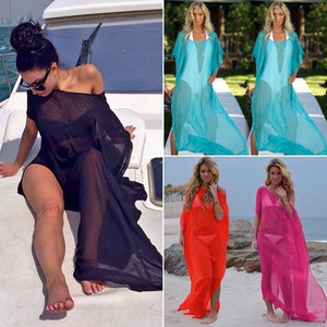Sexy Bikini Cover Up Swimsuit Chiffon S/M/L/XL/XXL