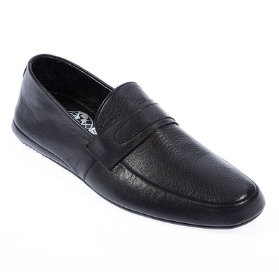 Men Genuine Leather Moccasin & Loafer Slippers