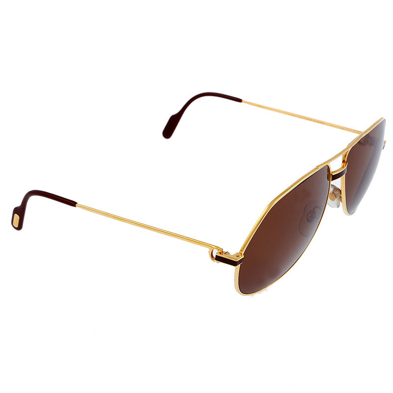 Cartier Vendome Louis Vintage Sunglasses 1983 - 18KT Gold Plated