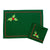 New Year Green Place Mat and Napkin Set