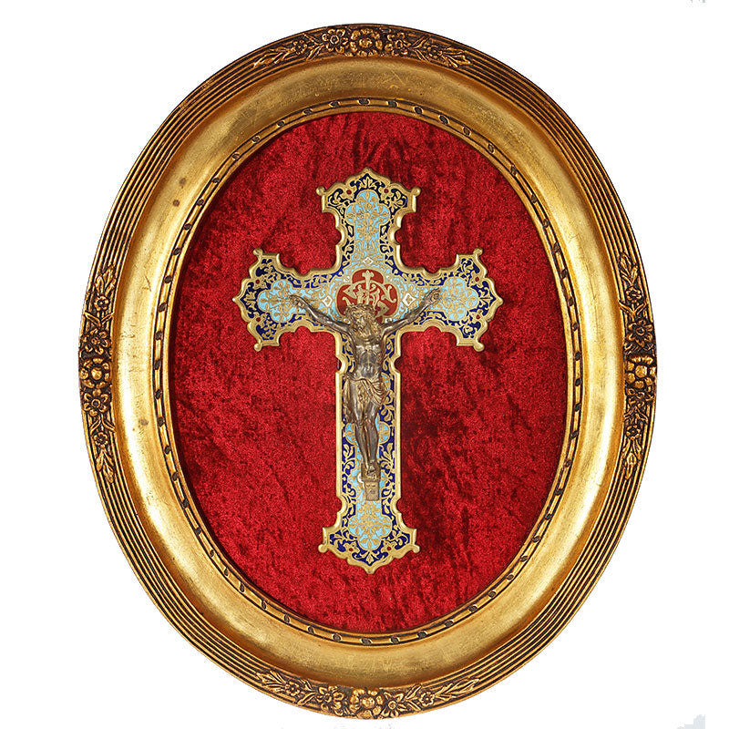 French Enamel Cross Frame