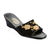 Women Wedge Heel Embroidered Satin Slipper