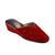Women Wedge Heel Spotted Claret Red Slipper