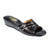 Women Wedge Heel Genuine Leather 3-Stripes Tailored Slipper