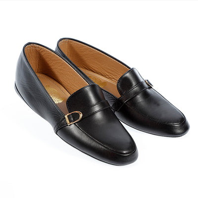 Men Leather Bucked Moccasin & Loafer Slippers