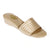 Women Silvery Stitched Gold Banded Slipper