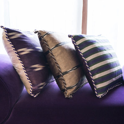 Purple Silver Green - Light Purple Kutnu Pillow