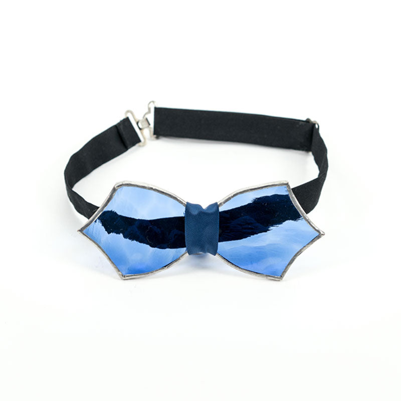 Blue Glass Bow Tie