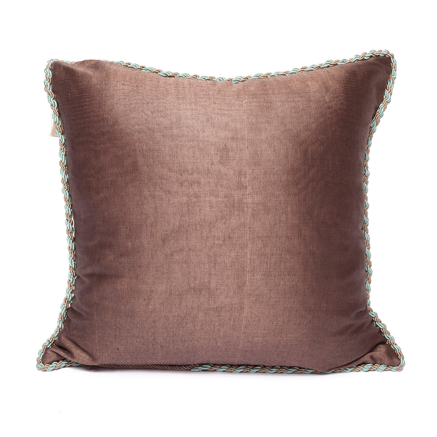 Aquamarine Green Beige - Dark Beige Kutnu Pillow