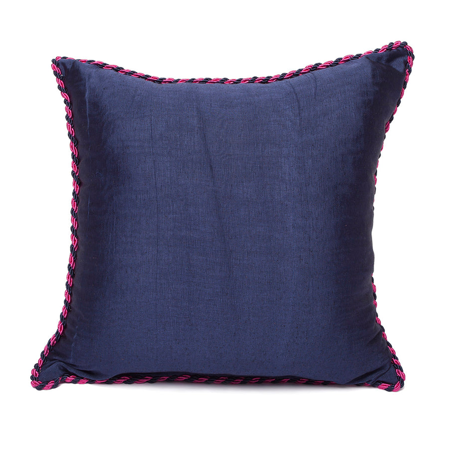 Pink Navy Blue - Navy Blue Kutnu Pillow