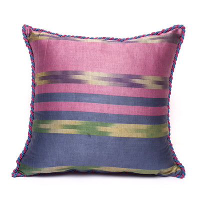 Blue Pink Green Yellow - Pink Kutnu Pillow