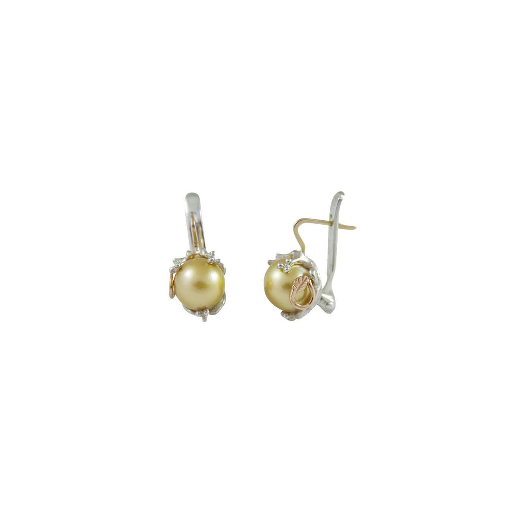 Australian Golden South Sea Pearl Earrings