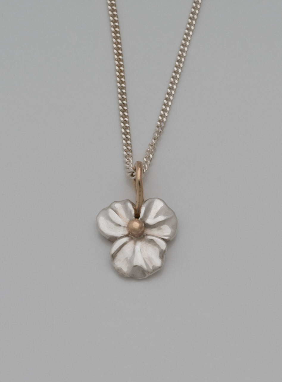 Flower Silver and Gold Pendant