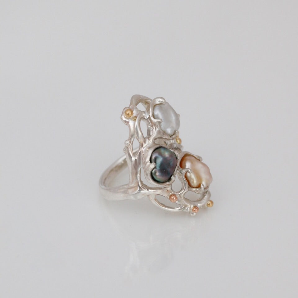 Natural Pearls Ring
