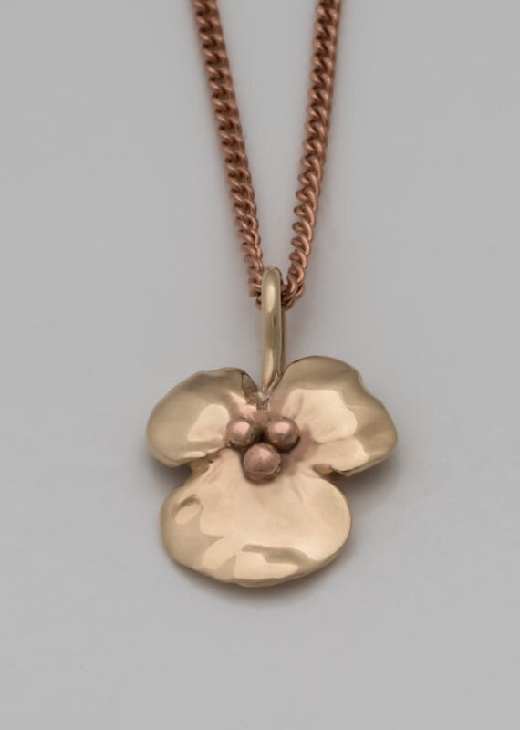 Flower Pendant Yellow and Rose Gold