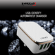 Premium 3-Usb Smart Travel Charger with Auto-Id (3.4A Rapid Charge)