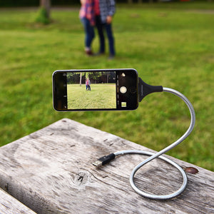 The World's Most Flexible Dock & Tripod Charging Cable - For iPhone/ iPad
