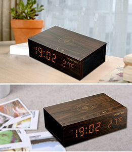 Premium Bluetooth Speaker Clock - With Inbuilt Wireless Charger