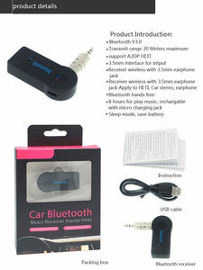Premium Car Bluetooth Receiver For Music and Calls