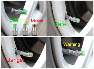 Safety Tyre Pressure Warning Cap