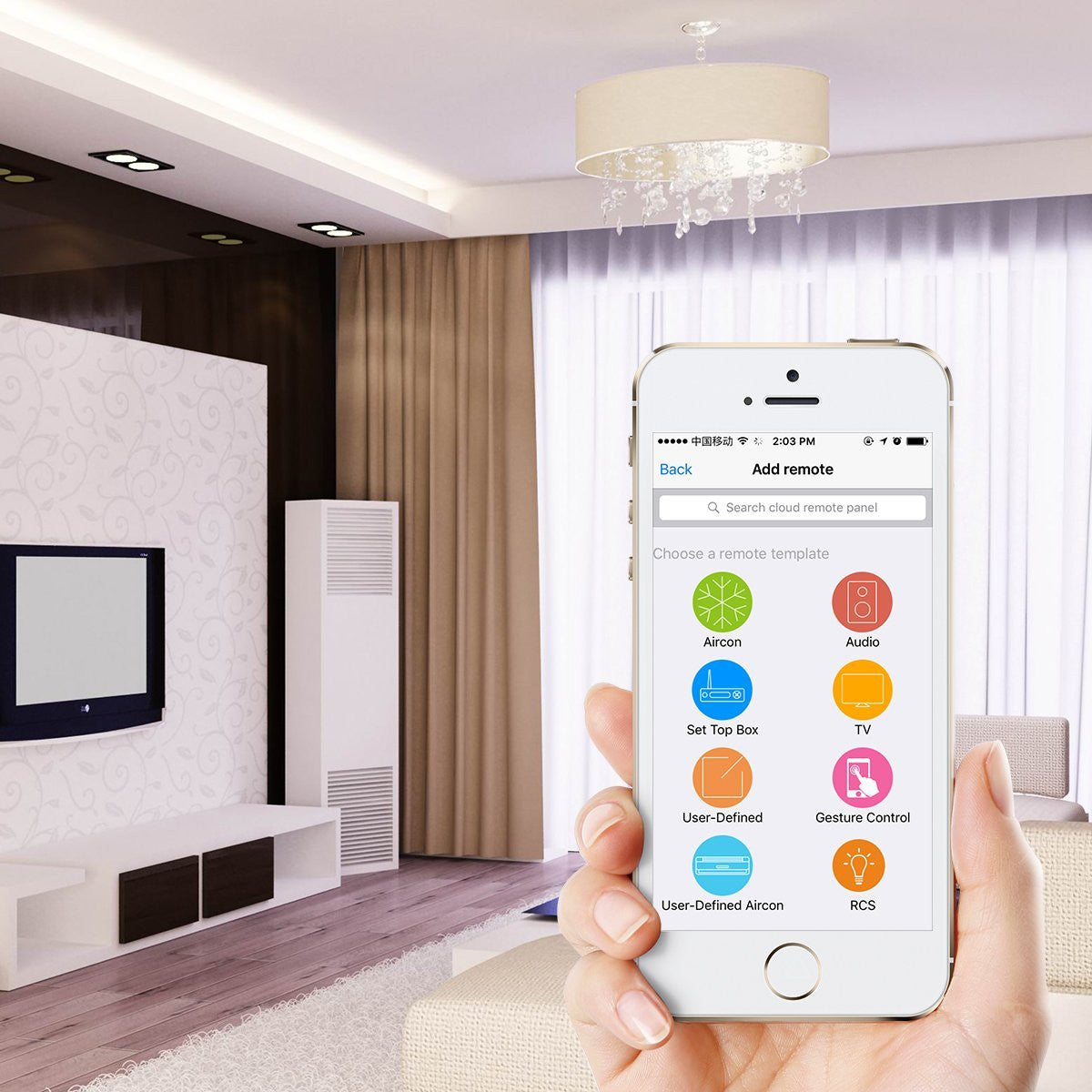 Smartphone Home Automation smart home automation device - control all devices from your