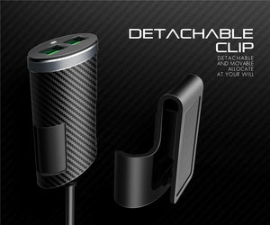 Premium 4-USB Car Charger with Auto-Id (5.1A)