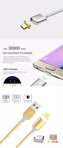 Braided Magnetic Fast Charge Micro-USB Cable for Android