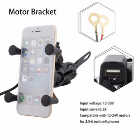 Premium Universal Bike Mobile Holder With Charging Socket