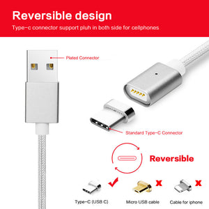 Braided Magnetic Fast Charge USB Cable - Type C