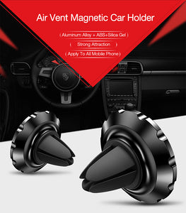 Cafele Universal Magnetic Mobile Holder For Car Air Vent - With Fixed Head