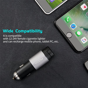 Rock Hammer Car Charger (2.4A) with Smart Bluetooth Earphone (Auto ON/OFF)