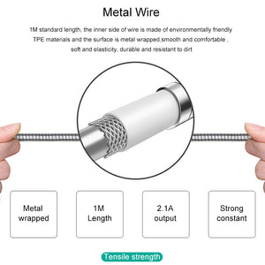 Premium Fast Charging Metal USB Data Cable - Type C
