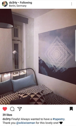 Geometric Mountain Tapestry