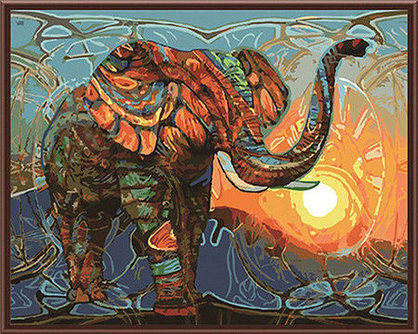 Up to 65% OFF - diy painting - Elephant Warrior DIY Paint-By-Number Kit | Wiki Wiseman