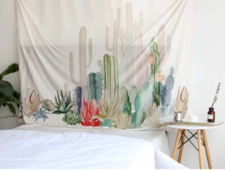 Flash Sale: Pastel Cactus Bohemian Wall Tapestry