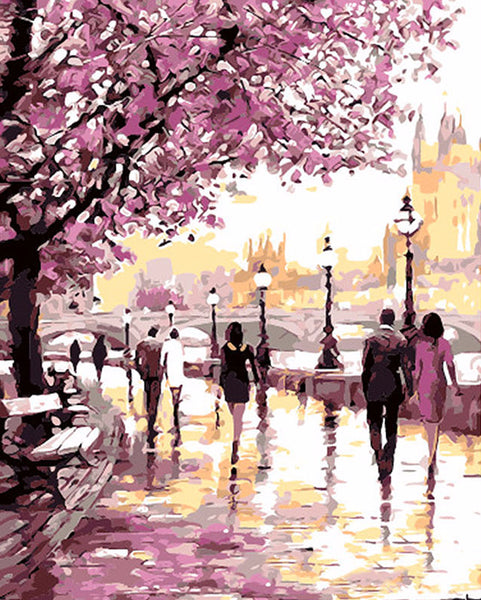 Up to 65% OFF - diy painting - Cherry Blossoms DIY Paint-By-Number Kit | Wiki Wiseman