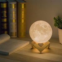 Up to 65% OFF -  - 3D Lunar Decorative Moon Lamp | Wiki Wiseman