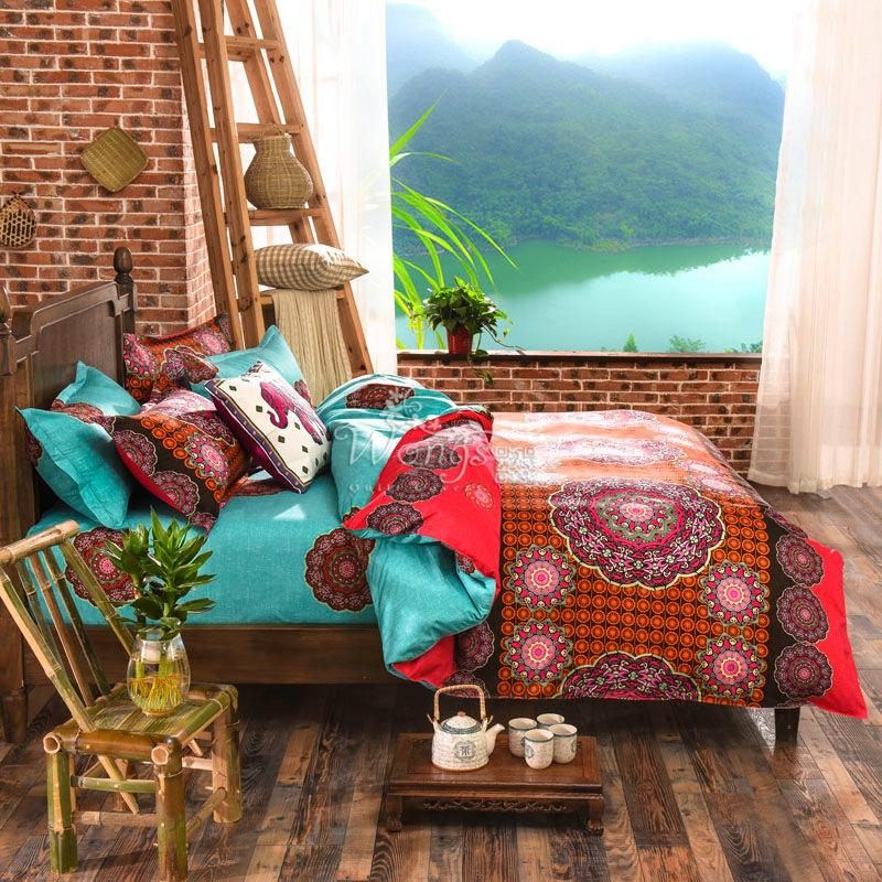 Ethic Aqua Bohemian Bedding Set