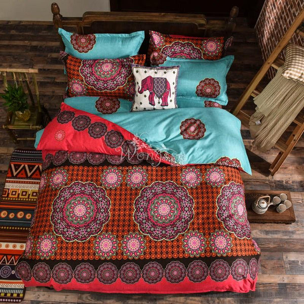 Up to 65% OFF - Bedding Sets - Ethic Aqua Bohemian Bedding Set | Wiki Wiseman