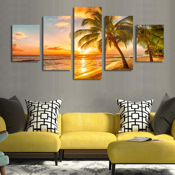 "Up to 65% OFF -  - ""Aloha Breeze"" Modern Canvas Prints 