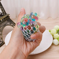Psychedelic Rainbow Squishy Stress Reliever Ball