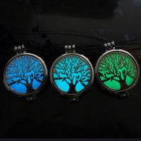 Vintage Tree Of Life Aromatherapy Diffuser Locket Pendant