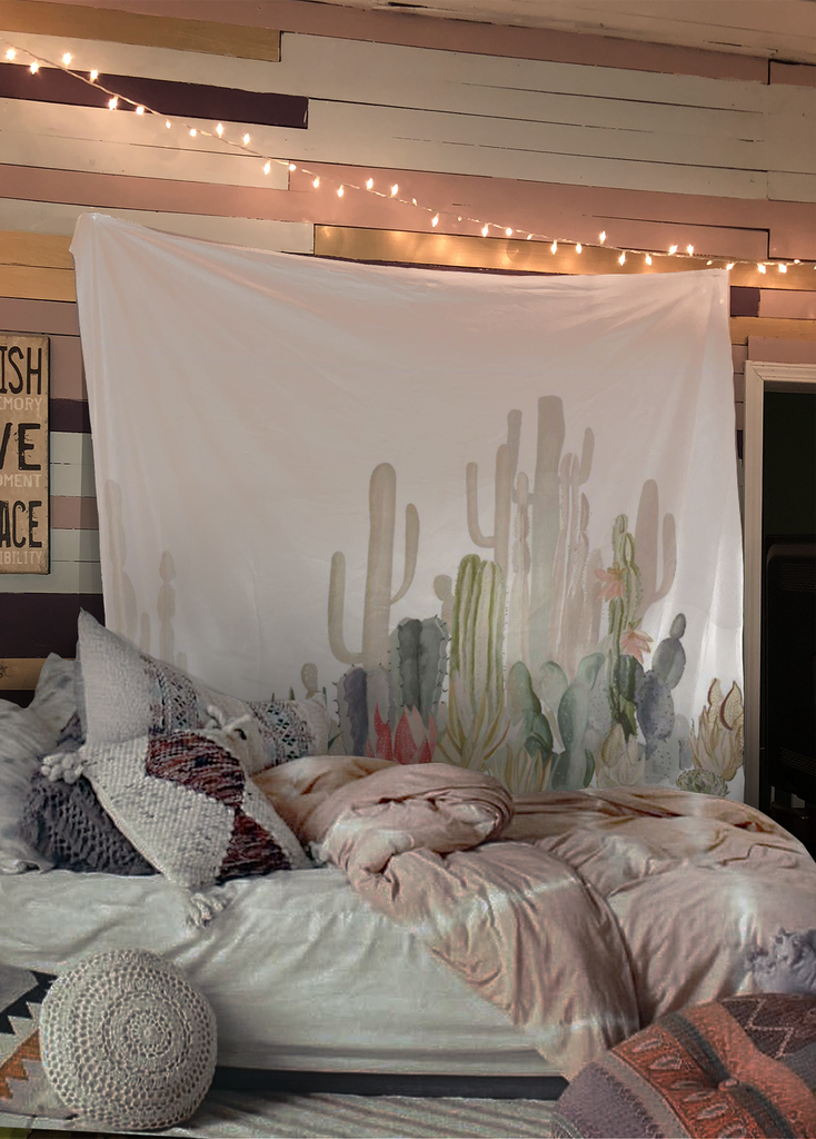 Up To 65% OFF   Tapestry   Flash Sale: Pastel Cactus Bohemian Wall Tapestry  ...