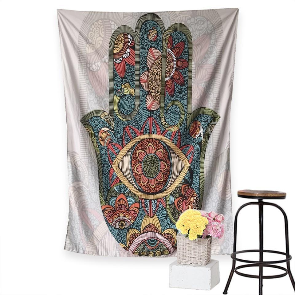 "Up to 65% OFF - Tapestry - ""Hamsa of Growth"" Tapestry 