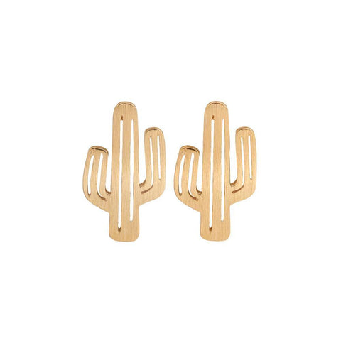 Up to 65% OFF -  - Sleek Cactus Stud Earrings | Wiki Wiseman