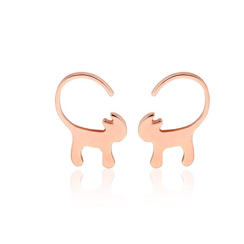 Up to 65% OFF -  - Stylish Cat Stud Earrings | Wiki Wiseman