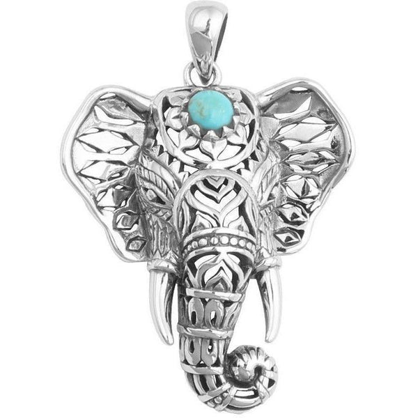 Up to 65% OFF -  - Boho Retro Blue Turquoise Elephant Necklace Pendant | Wiki Wiseman