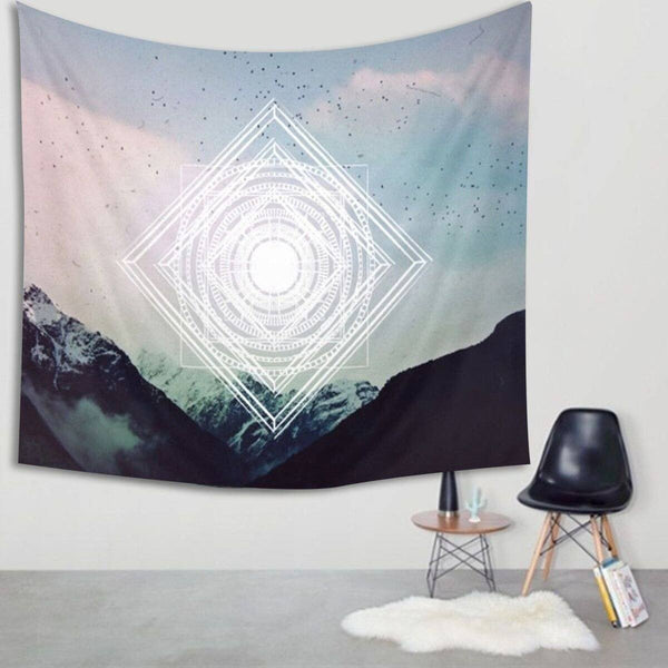 "Up to 65% OFF -  - ""Geometric Mountain Peak"" Tapestry 