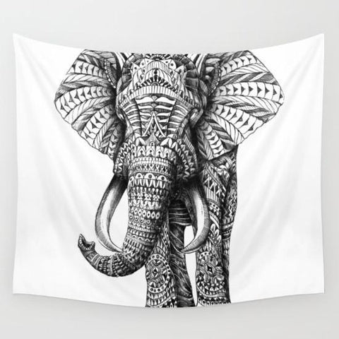 Up to 65% OFF -  - Black & White Tribal Elephant Tapestry | Wiki Wiseman