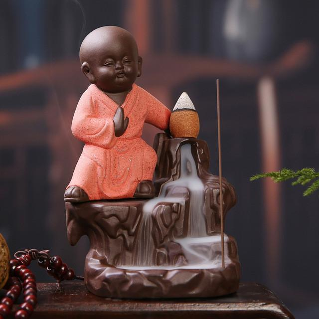 Up to 65% OFF -  - Baby Kung Fu Monk Backflow Incense Burner | Wiki Wiseman